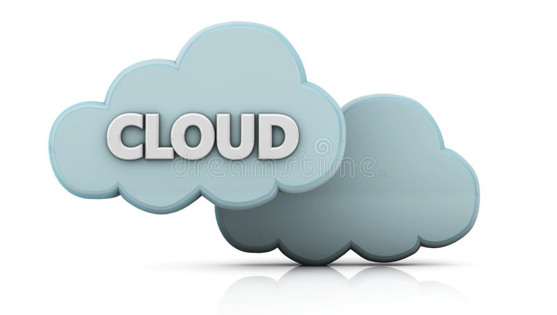 облака 3d иллюстрация вектора