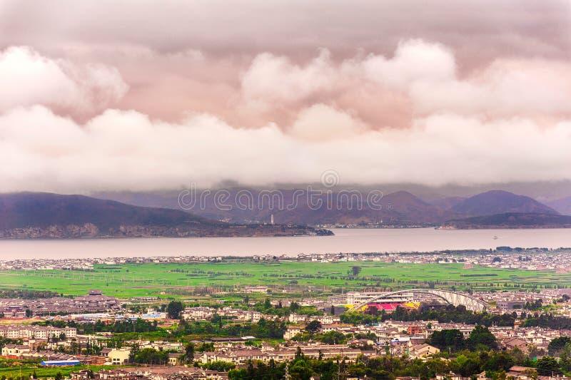 Облака Erhai стоковые фотографии rf