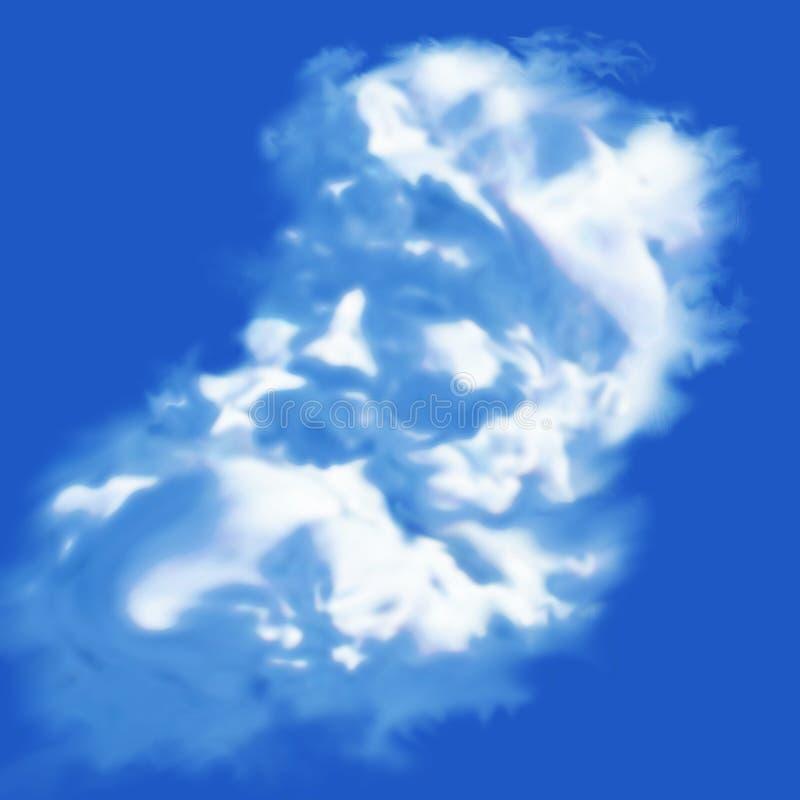 Облако в форме Санта Клауса иллюстрация вектора