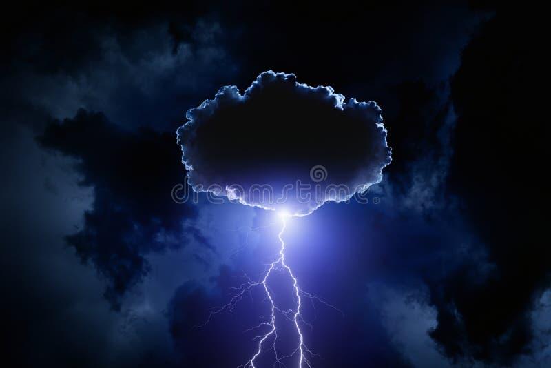 Облако с молнией стоковые изображения