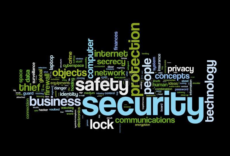 Облако слова безопасности безопасностью иллюстрация вектора