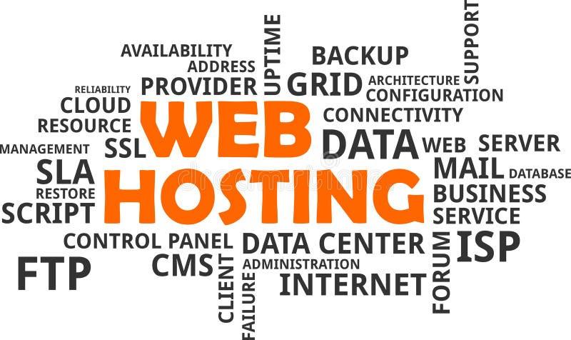 Облако слова - веб - хостинг бесплатная иллюстрация