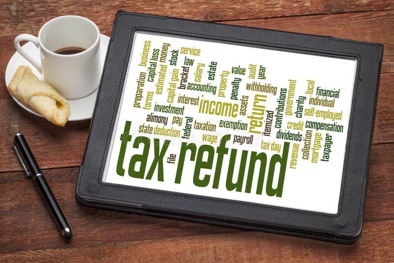 Облако слова возврата налога стоковое изображение rf