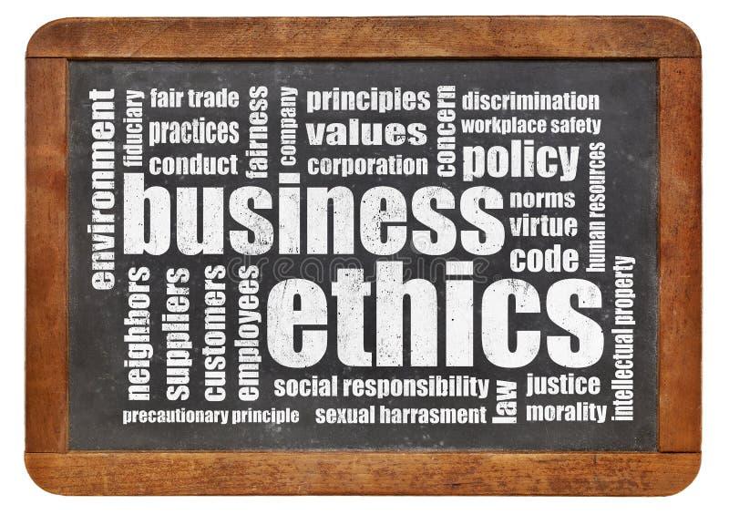 Облако слова деловой этики стоковые фото