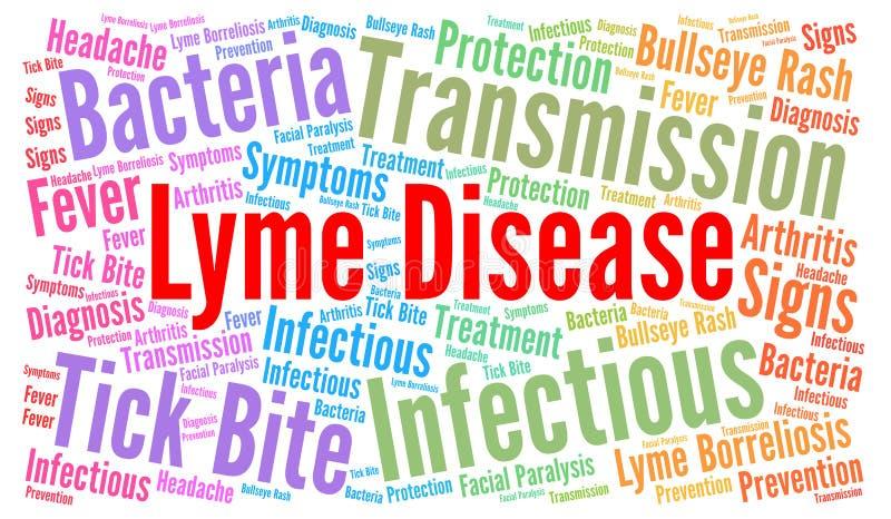 Облако слова заболеванием Lyme иллюстрация вектора