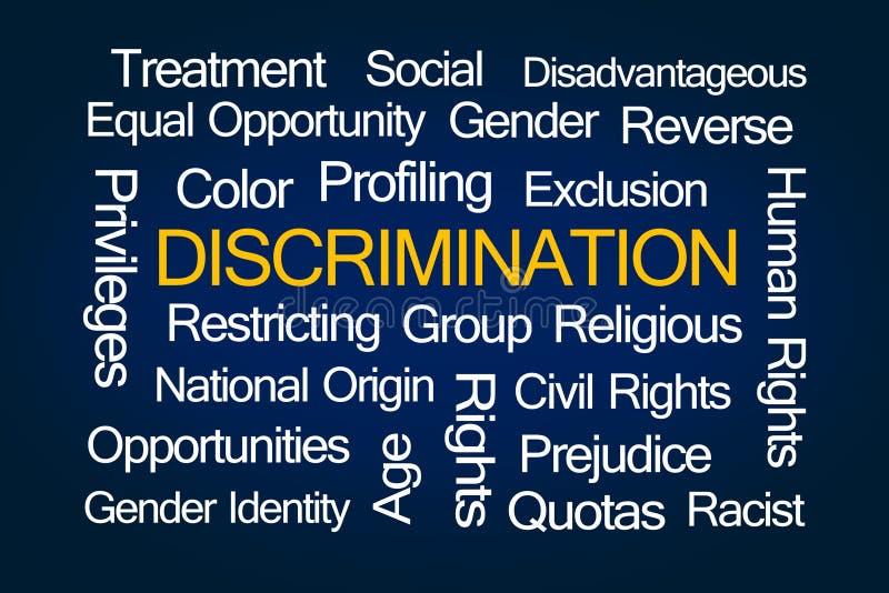 Облако слова дискриминации стоковая фотография