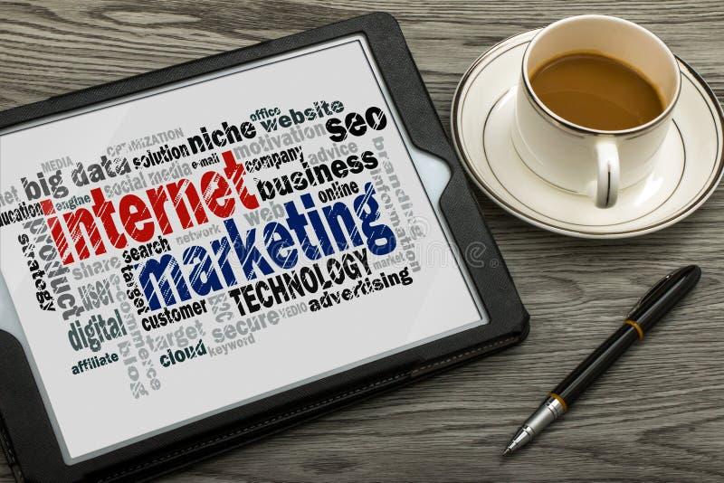 Облако слова маркетинга интернета стоковые изображения rf