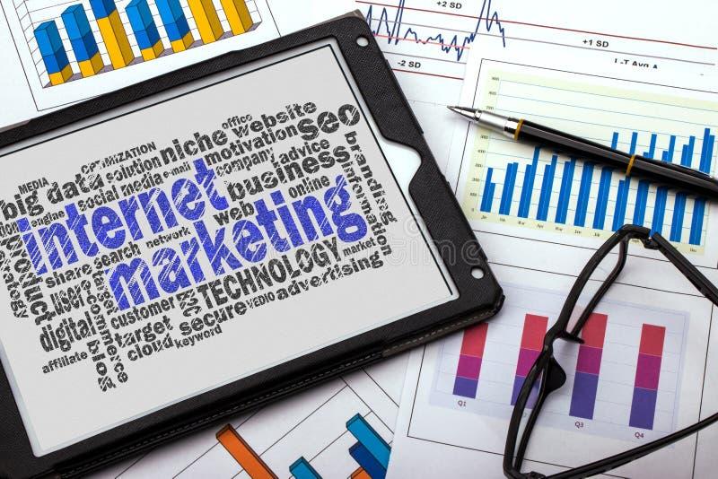 Облако слова маркетинга интернета стоковое фото rf