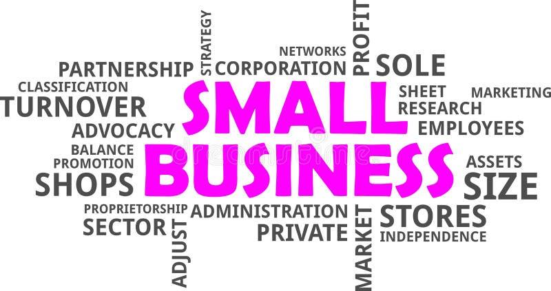 Облако слова - мелкий бизнес бесплатная иллюстрация