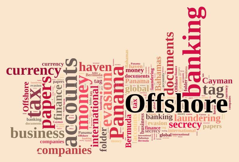 Облако слова на зарубежных компаниях бесплатная иллюстрация