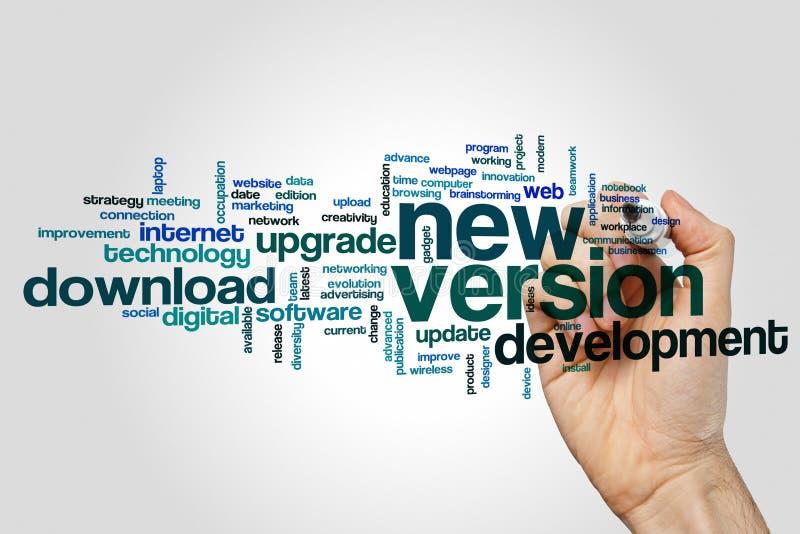 Облако слова новой версии стоковые изображения