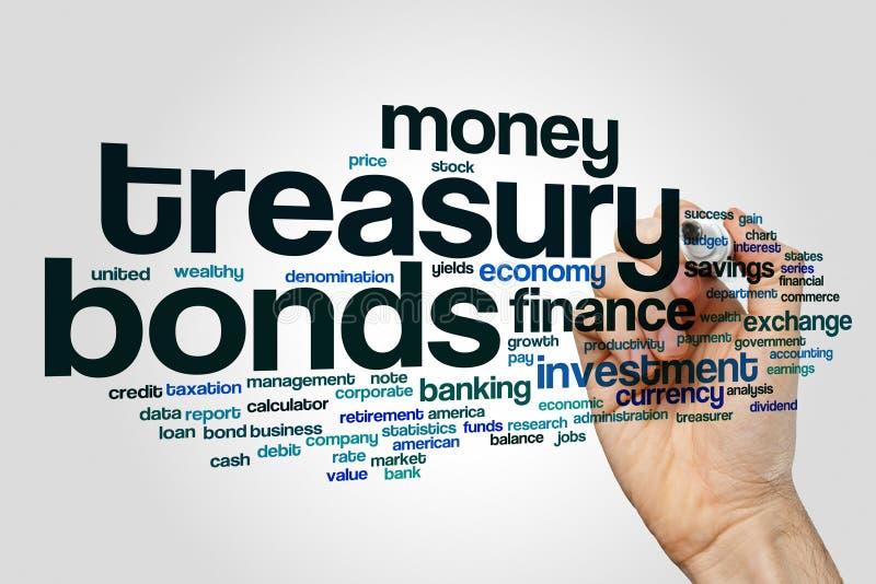 Облако слова облигаций центрального банка стоковое изображение rf