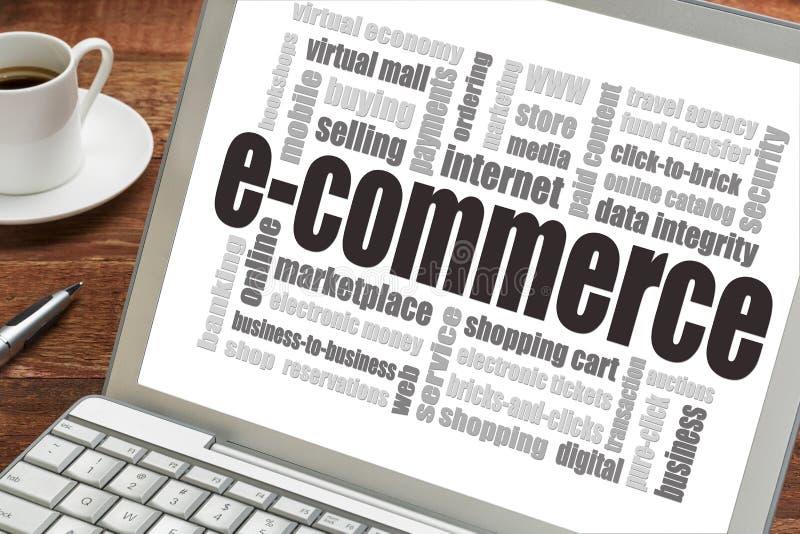 Облако слова электронной коммерции стоковые фото