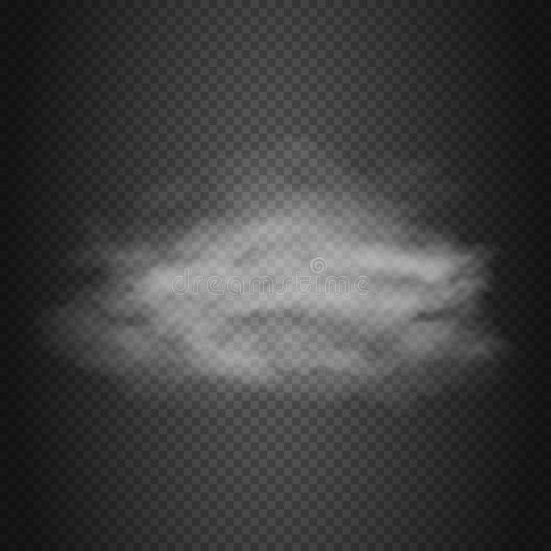 Облако дыма, пар, предпосылка вектора пыли иллюстрация вектора