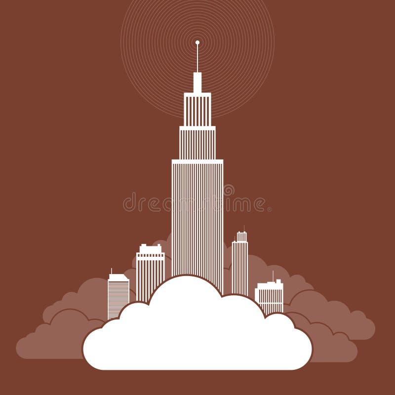 Облако Based Корпорация иллюстрация вектора