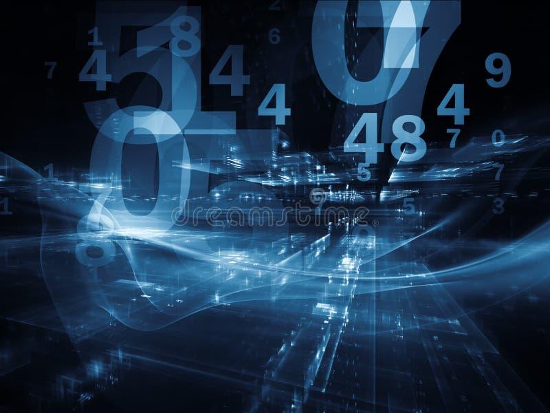 Области фрактали цифров стоковое изображение