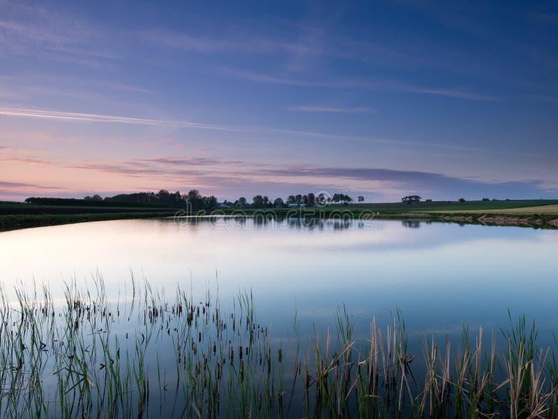 Download Облачное небо в воде стоковое изображение. изображение насчитывающей трава - 40584219