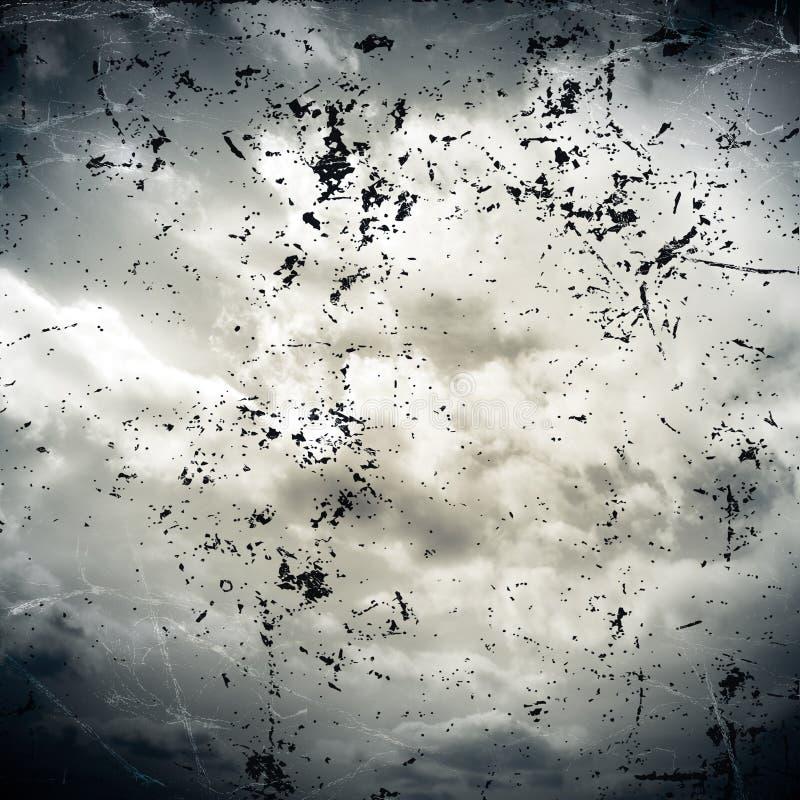 Облачные небеса в винтажном стиле стоковая фотография