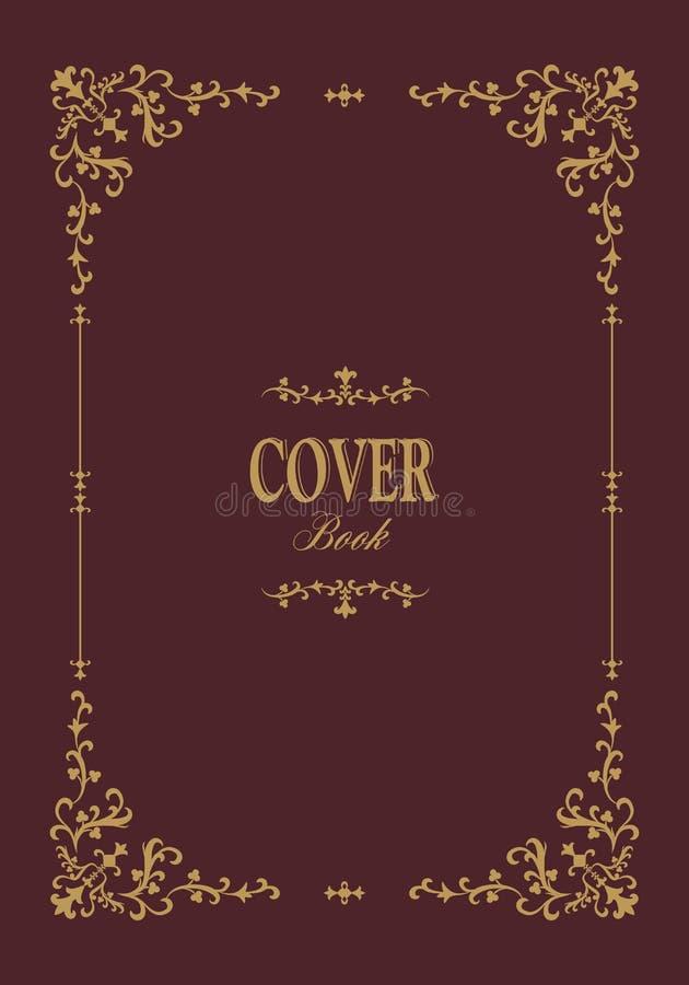 Обложка книги с ретро орнаментальной рамкой золота бесплатная иллюстрация