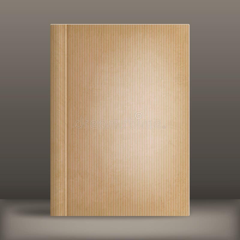 Обложка книги Grunge пустая иллюстрация вектора