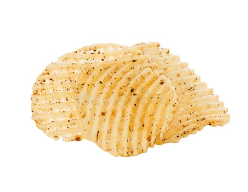 обломоки предпосылки изолировали белизну картошки стоковые фото