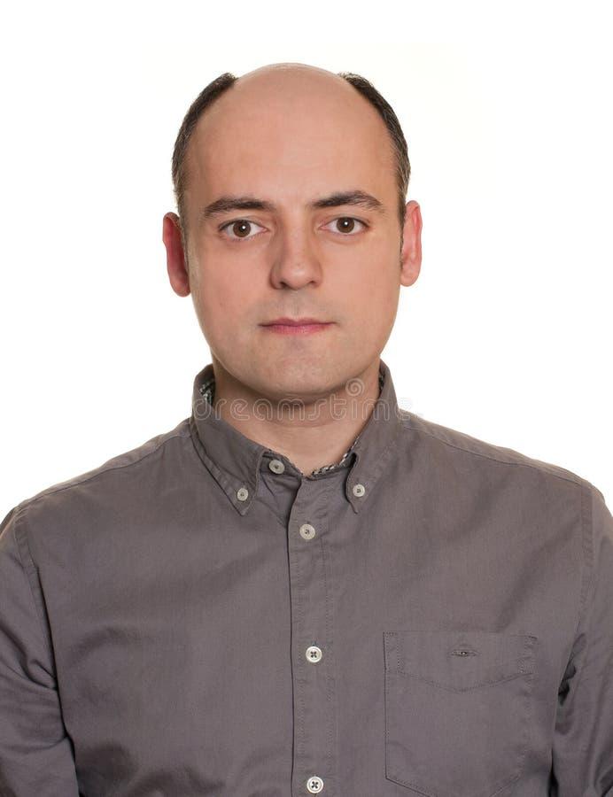 Облыселый человек без парика. стоковая фотография