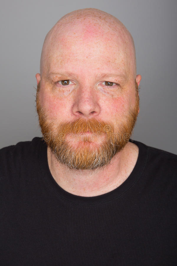 облыселый человек бороды стоковое изображение