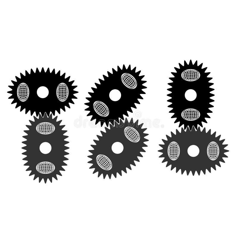 Овальные шестерни бесплатная иллюстрация