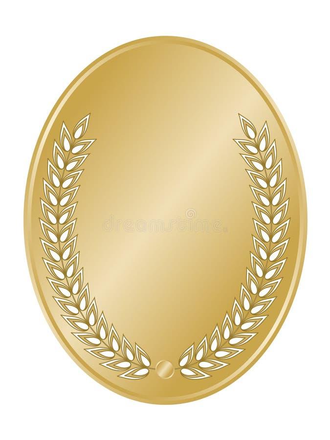 овал золота гребеня иллюстрация штока