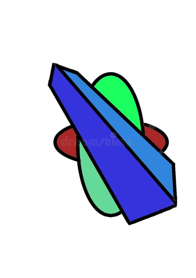 Овал и куб круга стоковая фотография rf