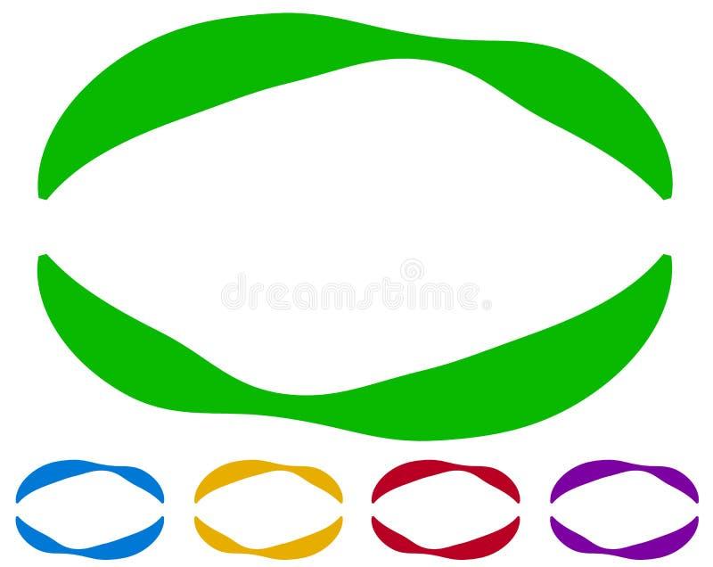 Download Овальные рамки - границы в 5 цветах цветастые элементы конструкции Иллюстрация вектора - иллюстрации насчитывающей цветасто, эллиптическо: 81805924