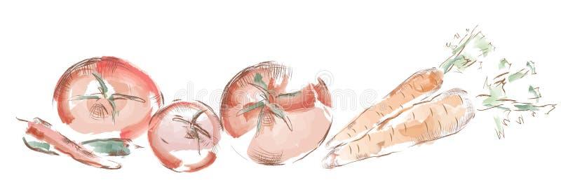 Овощи акварели бесплатная иллюстрация
