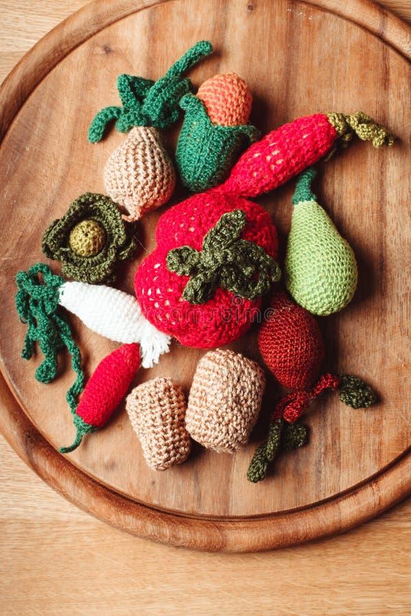 Овощи вязания крючком крошечные стоковые изображения