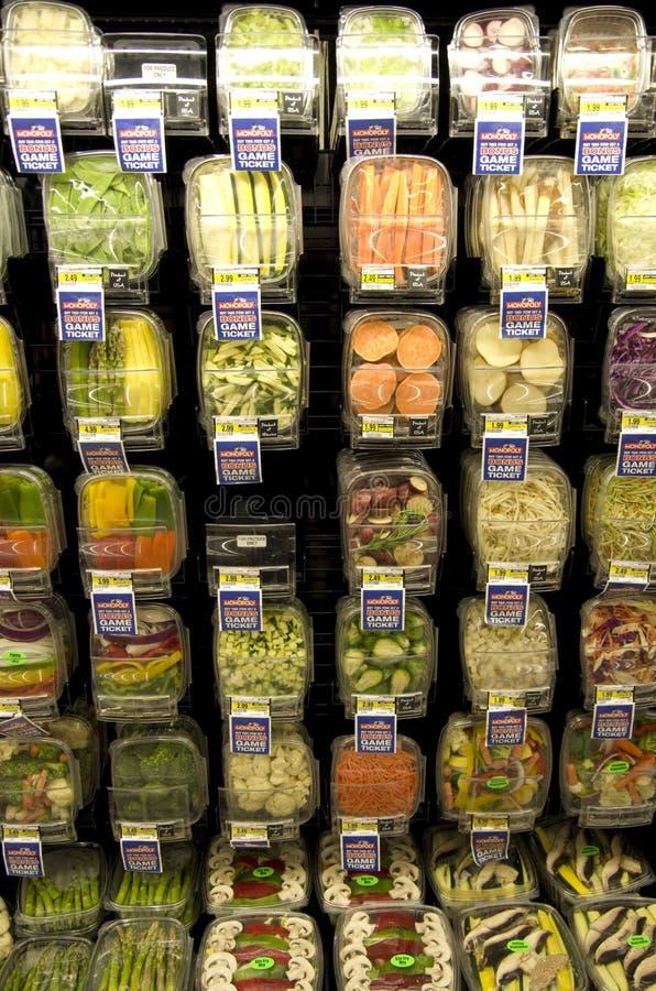 Овощи в гастрономе стоковое фото