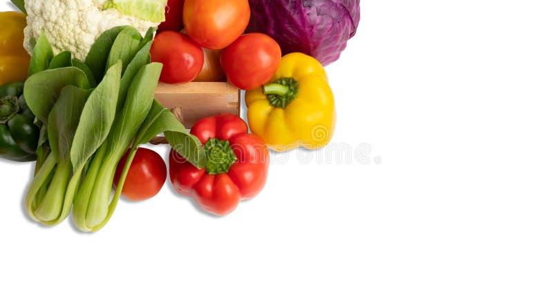 Овощи группы изолируют на белой предпосылке стоковое фото