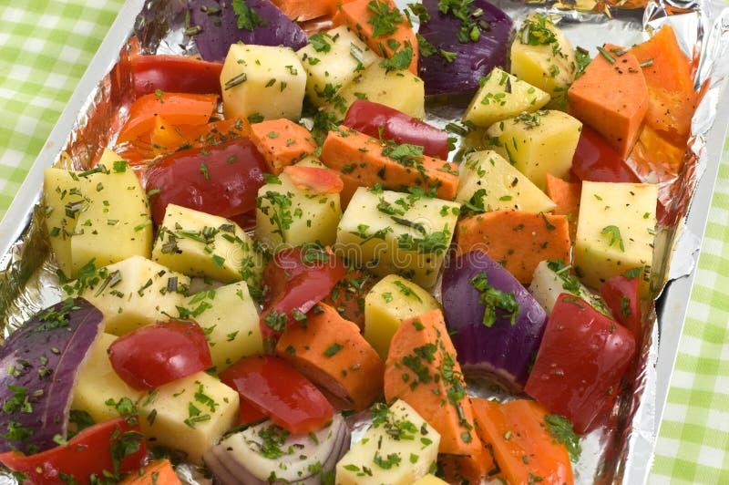 овощи жарить в духовке стоковые фото