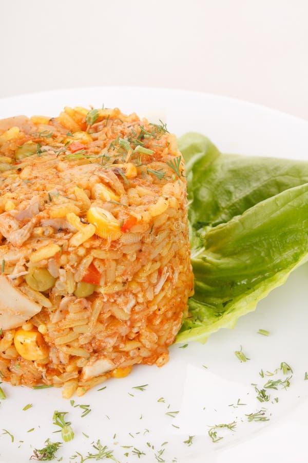 овощи зажаренного риса стоковые изображения rf