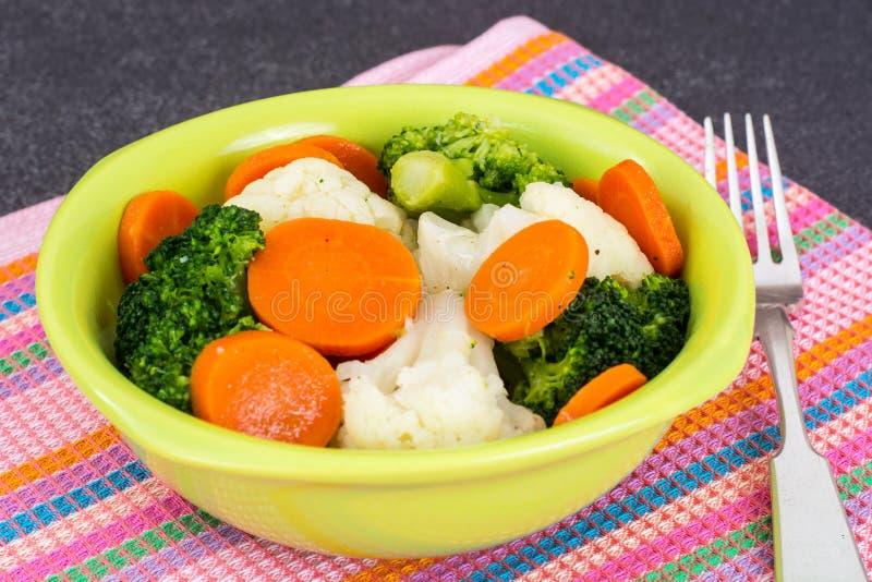 Овощи диетической еды испаренные стоковые фотографии rf