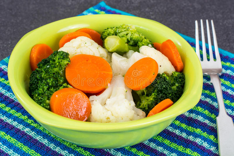 Овощи диетической еды испаренные стоковые изображения rf
