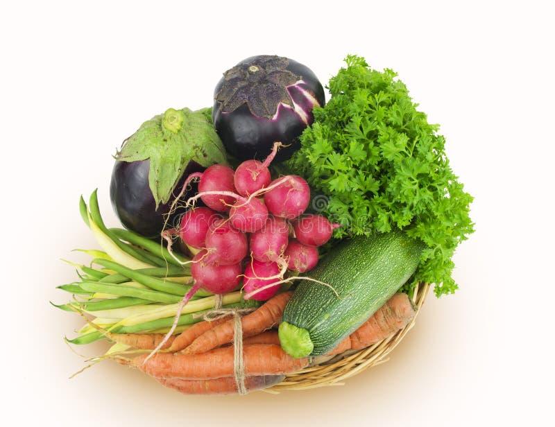 Овощи изолированные на белой предпосылке стоковые фотографии rf