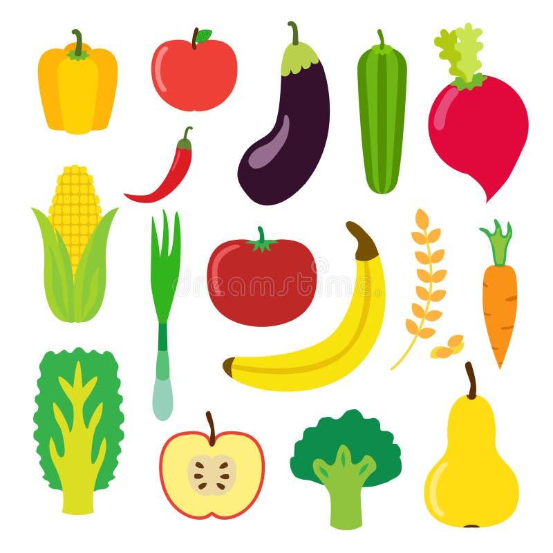 Download Овощи и плодоовощ установили для Smoothie, питья битника Плоский стиль Иллюстрация штока - иллюстрации насчитывающей chili, здорово: 81802336