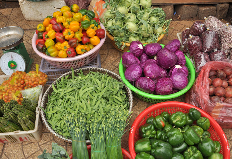 овощи корзины свежие Вьетнам стоковое изображение