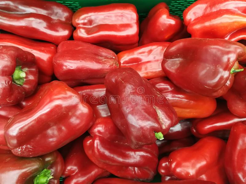 Овощи красных перцев стоковые фотографии rf