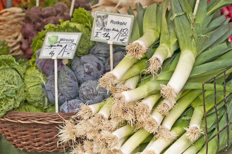 овощи лук-порея kale стоковое изображение