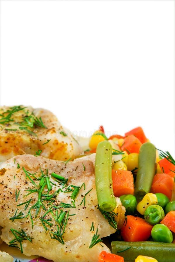 овощи мяса цыпленка стоковое фото rf