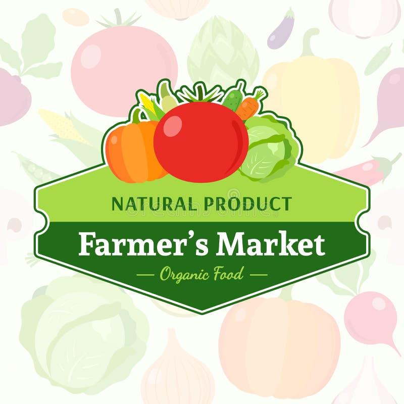 Овощи обозначают над скороговоркой овощей безшовной бесплатная иллюстрация