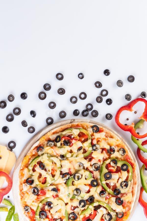 овощи пиццы вкусные стоковые изображения rf