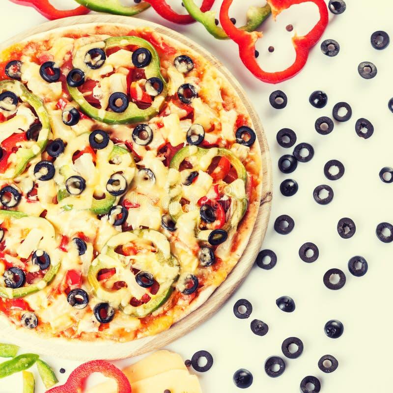 овощи пиццы вкусные стоковая фотография rf