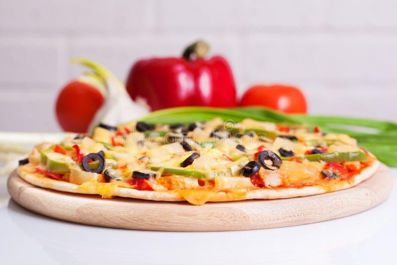 овощи пиццы вкусные стоковое фото