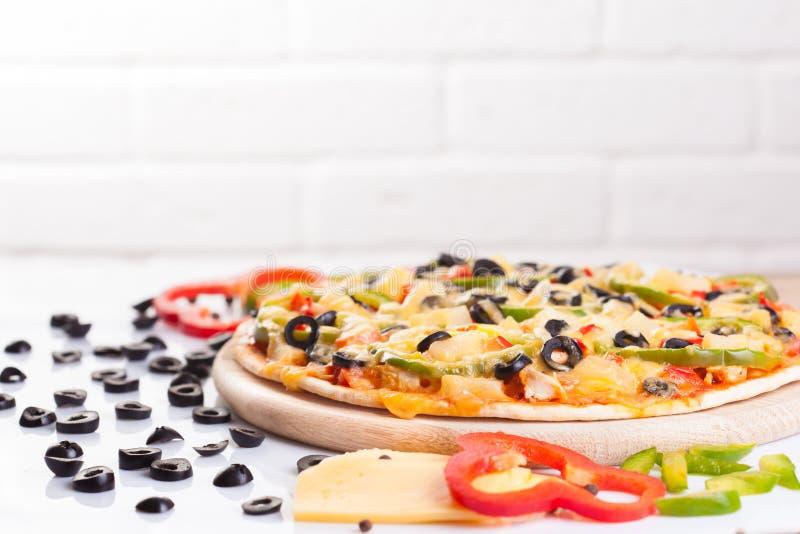 овощи пиццы вкусные стоковое изображение